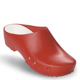 Chiroclogs Classic rot <br>ohne Riemen