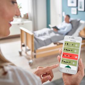 Pflegebett inkl. Bluetooth <br>und Sicherheits-App