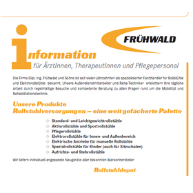Pflegedienstinformation f. ÄrztInnen, TherapeutInnen u. Pflegepersonal