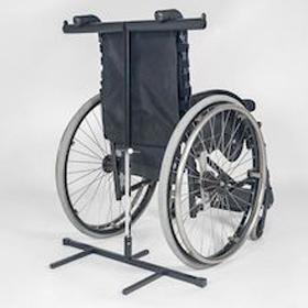 Rollstuhl-Kippsicherung