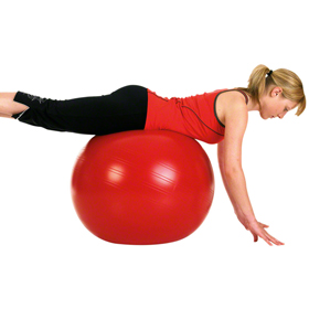Gymnastikball MyBall rot
